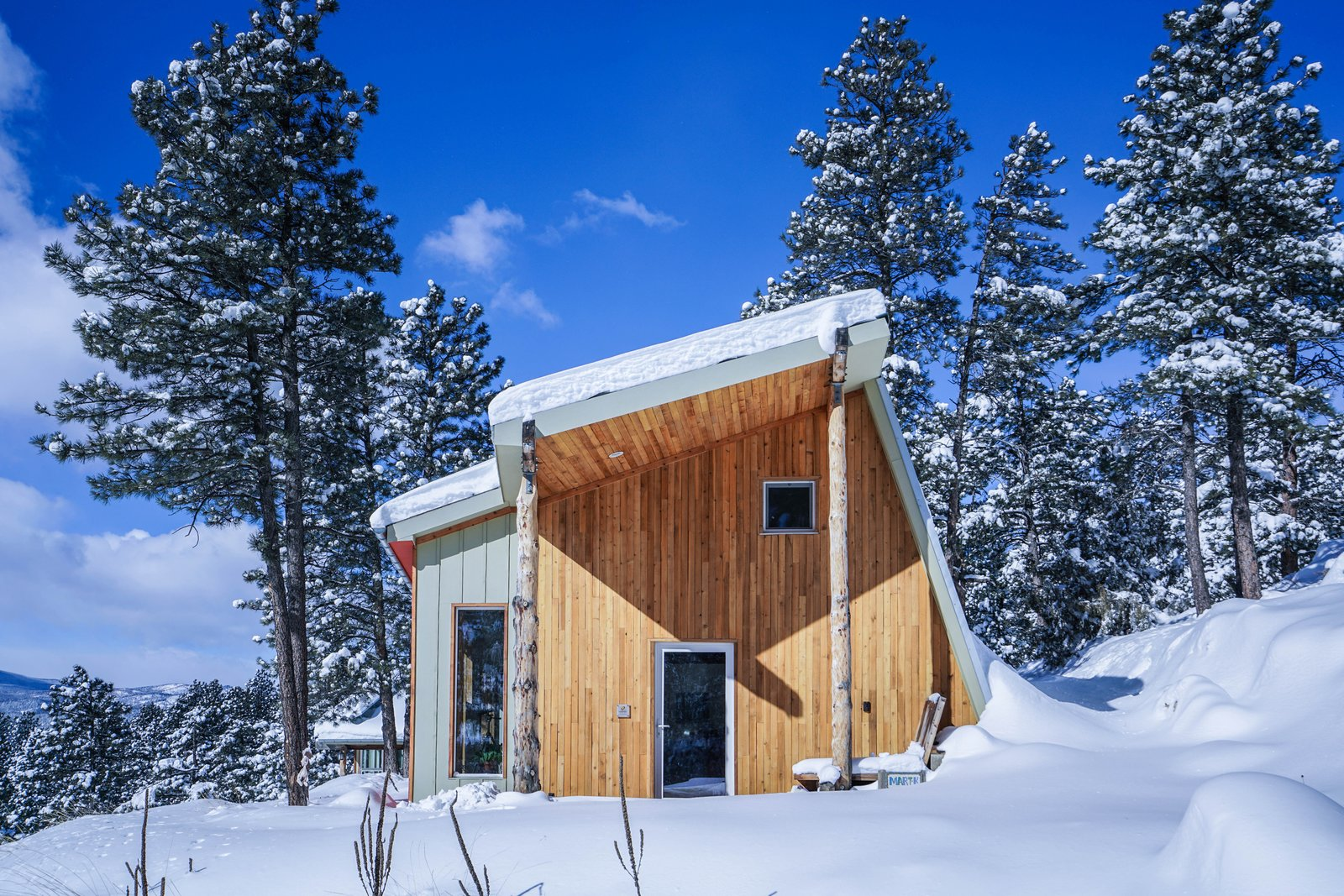 Martak passive house modern home in fort collins colorado for Cabin rentals near fort collins colorado