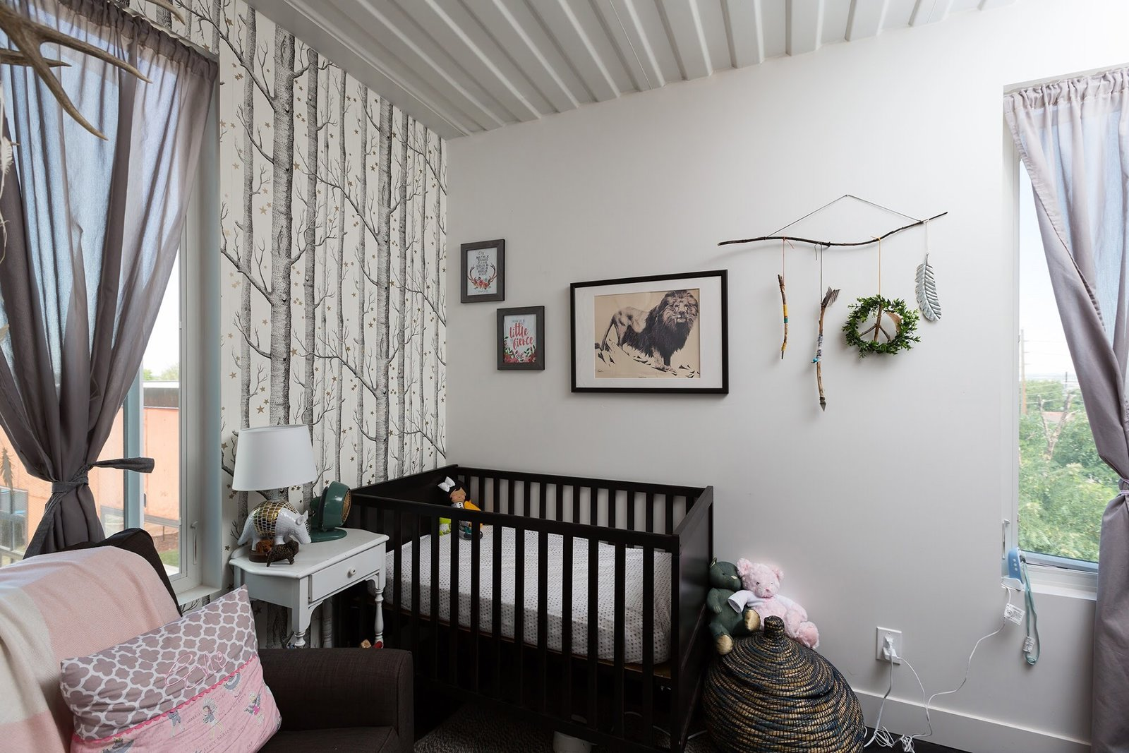 Kids Room, Bed, Toddler Age, Bedroom Room Type, and Neutral Gender  The Container house