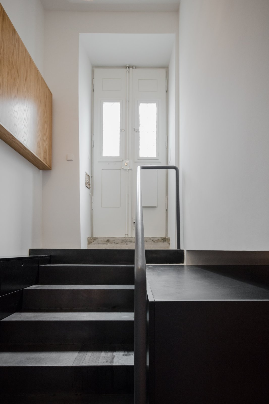 Staircase, Metal Railing, and Metal Tread  Rua Maria Loft