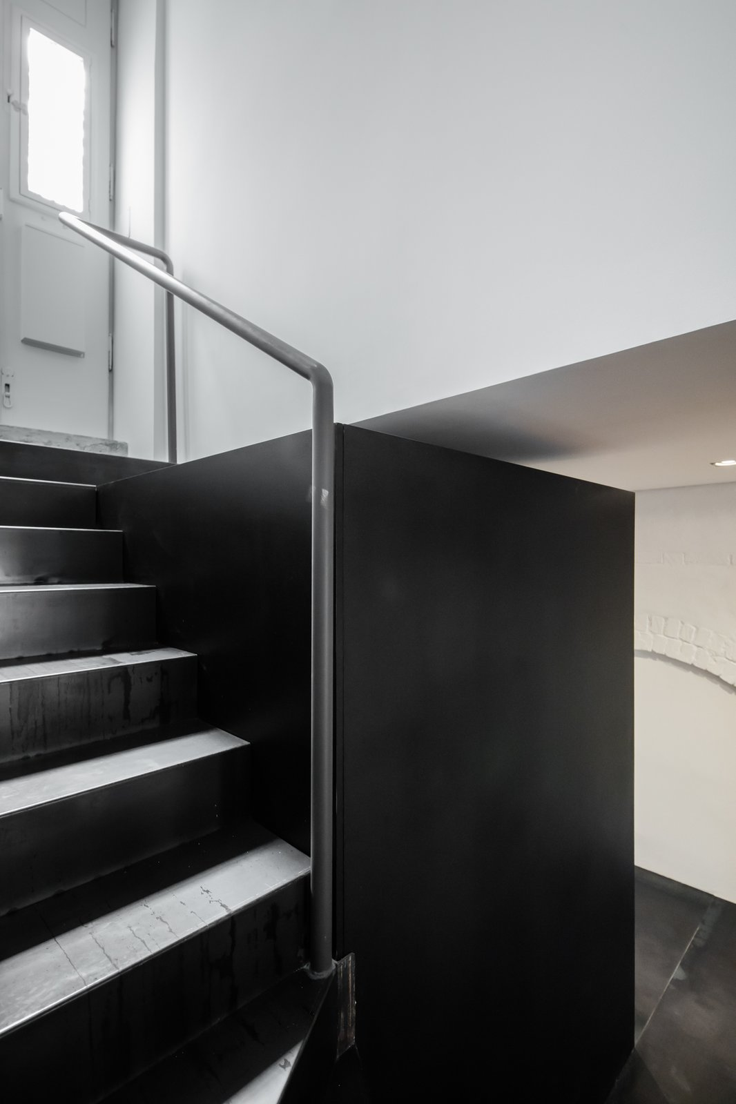 Staircase, Metal Tread, and Metal Railing  Rua Maria Loft