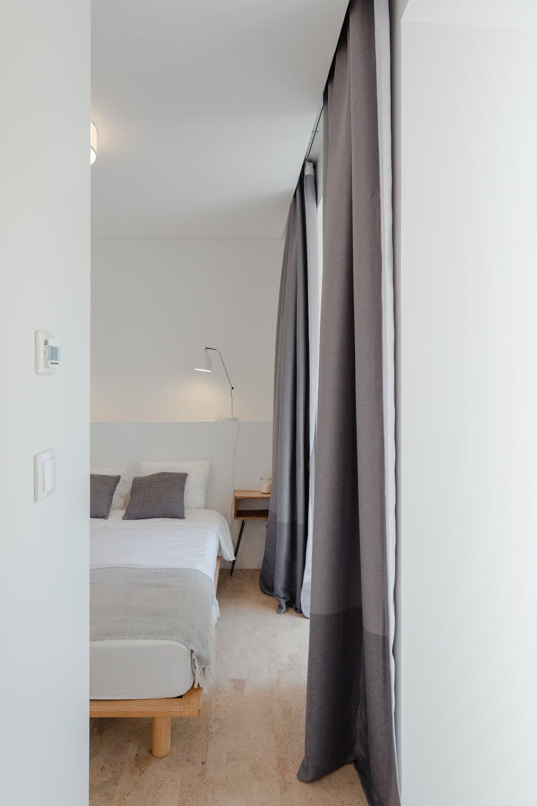 Bedroom, Night Stands, Bed, and Cork Floor  Rua Maria Loft