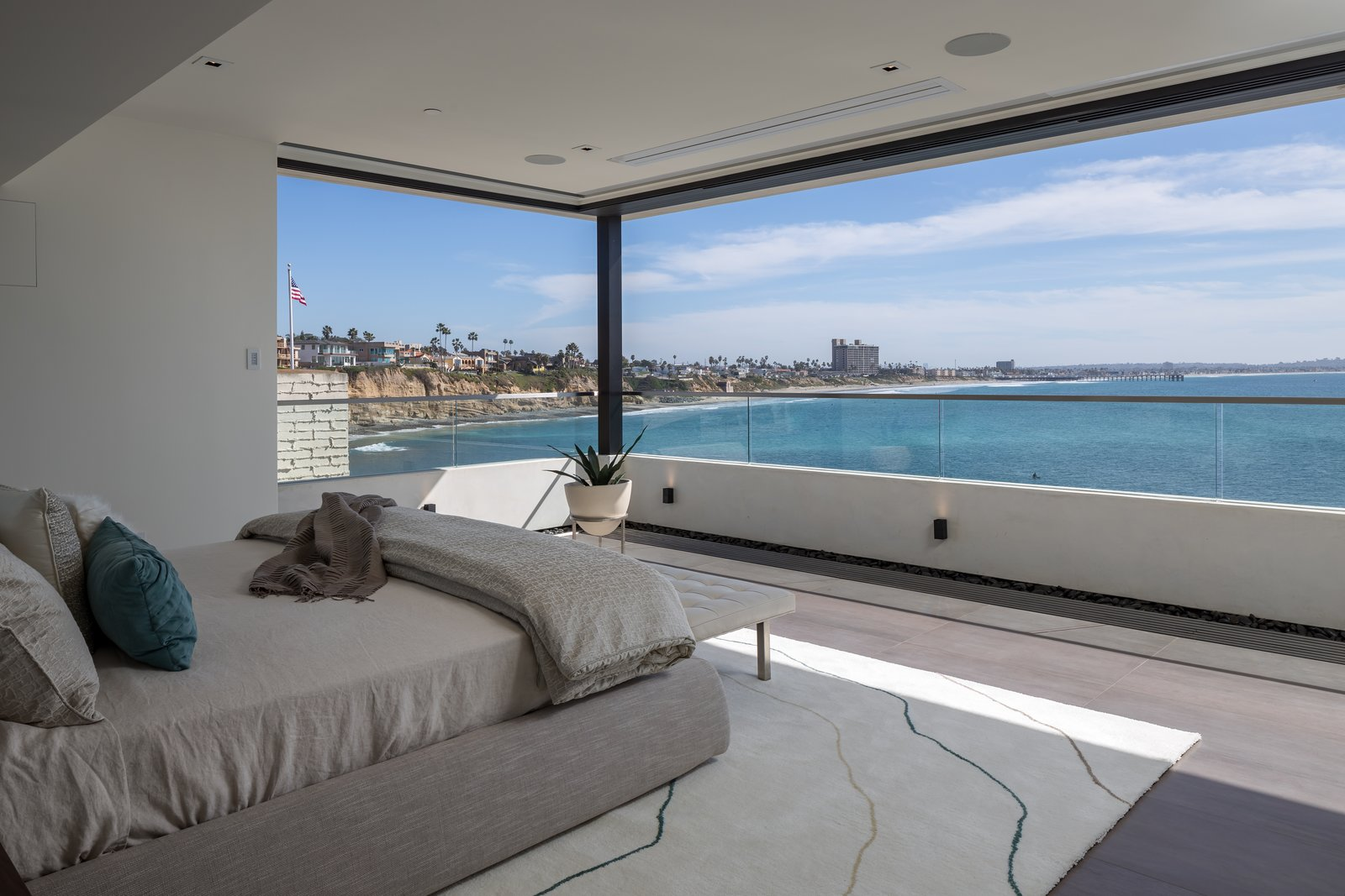 Bedroom  This New Cliffside La Jolla Residence Brings The Outdoors In with Views of One of California's Most Iconic Surf Breaks