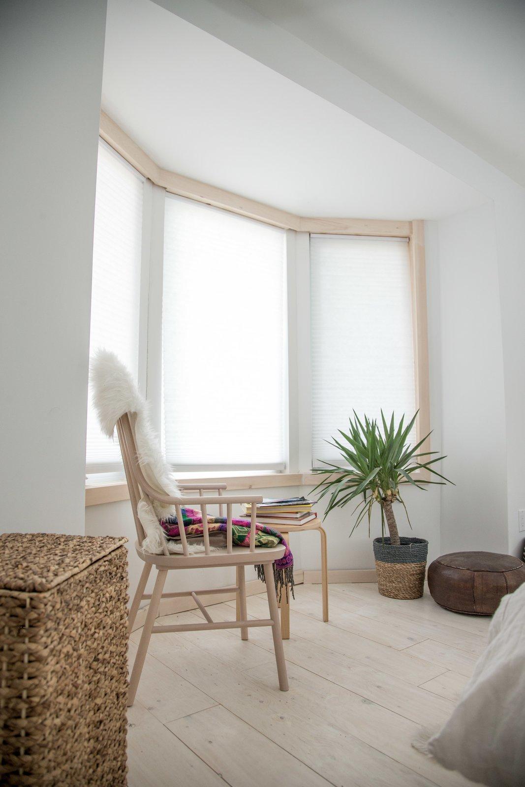 Bedroom, Bed, Light Hardwood Floor, and Chair  Sheridan Residence