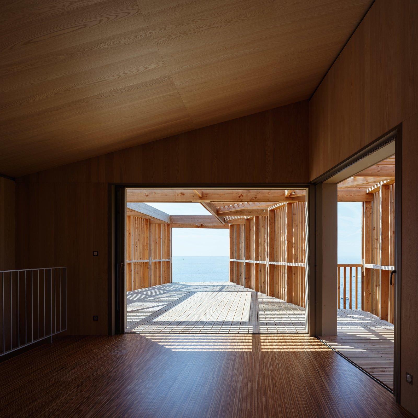 Living Room and Medium Hardwood Floor  The KGET in Marseille