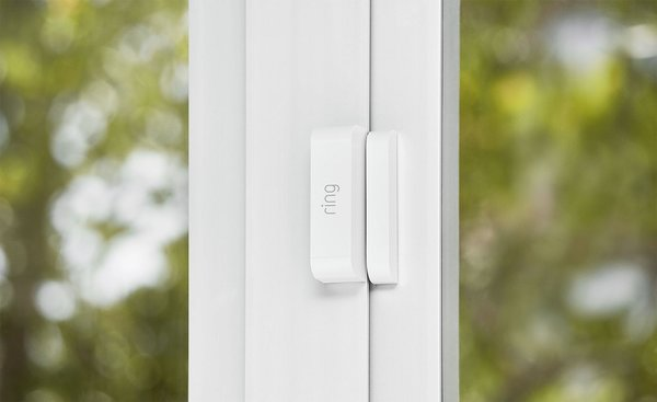 The Ring Alarm security system is simple to install, just attach the sensors to doors and windows using two-sided tape.