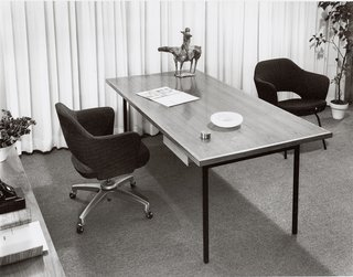 Florence Knoll's Planning Unit approached interior design as architecture, designing new spaces for some of the biggest names in mid-20th century corporate America. It has been credited with revolutionizing the American business environment.