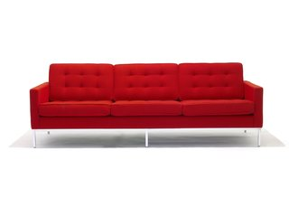 The Florence Knoll Sofa, first designed in 1954, was reintroduced in 2017, and manufactured according to her original specifications.