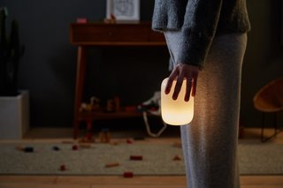 Glow can be carried around to provide comfortable light, avoiding the need to turn on harsh lighting that might disrupt your sleep pattern further.