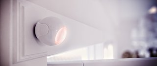 Sensors like this Fibaro motion sensor can monitor for intruders, but when connected to a smart home hub they can also do useful things like turn on lights when you walk past them.
