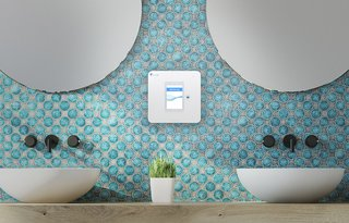 The Walabot Home is designed to be placed on a bathroom wall and scans constantly for movement. If it detects a fall, it immediately calls your trusted contact.