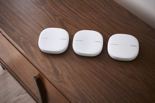 Samsung SmartThings WiFi devices can be placed throughout your home to extend WiFi to every corner. You can use just one or deploy multiple units, depending on the space you need to cover.