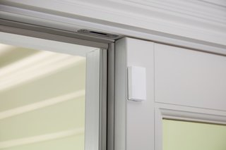 This Abode door sensor can be configured to send alerts to a trusted caregiver when the door is opened, and you can have a professional come set it up for you.