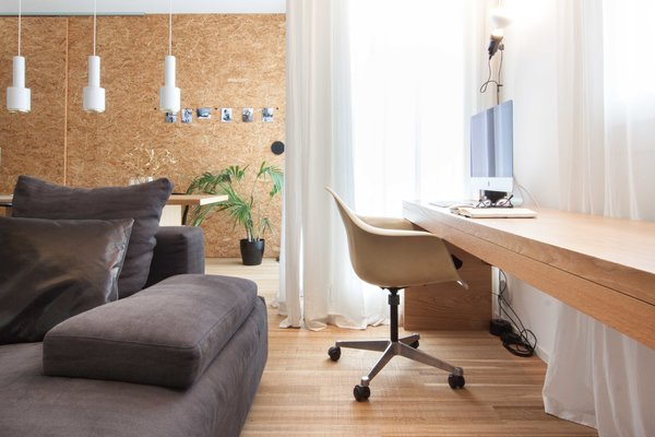 Office, Chair, Lamps, Desk, Study Room Type, and Medium Hardwood Floor  Interior LP by Didonè Comacchio