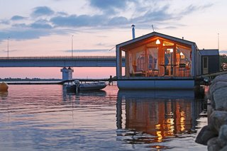 Architect Ivan Ovchinnikov's modular home company DublDom is making turn-key houseboats ubiquitous and easily accessible by constructing and installing the dwellings quickly. The timber-frame homes are currently being manufactured in Russia and the Czech Republic. Ovchinnikov is looking to bring his company stateside in the future.