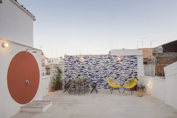 Outdoor, Raised Planters, and Retaining Fences, Wall  Photo 13 of 13 in An Old Fisherman's House in Sicily Is Transformed Into 2 Apartments