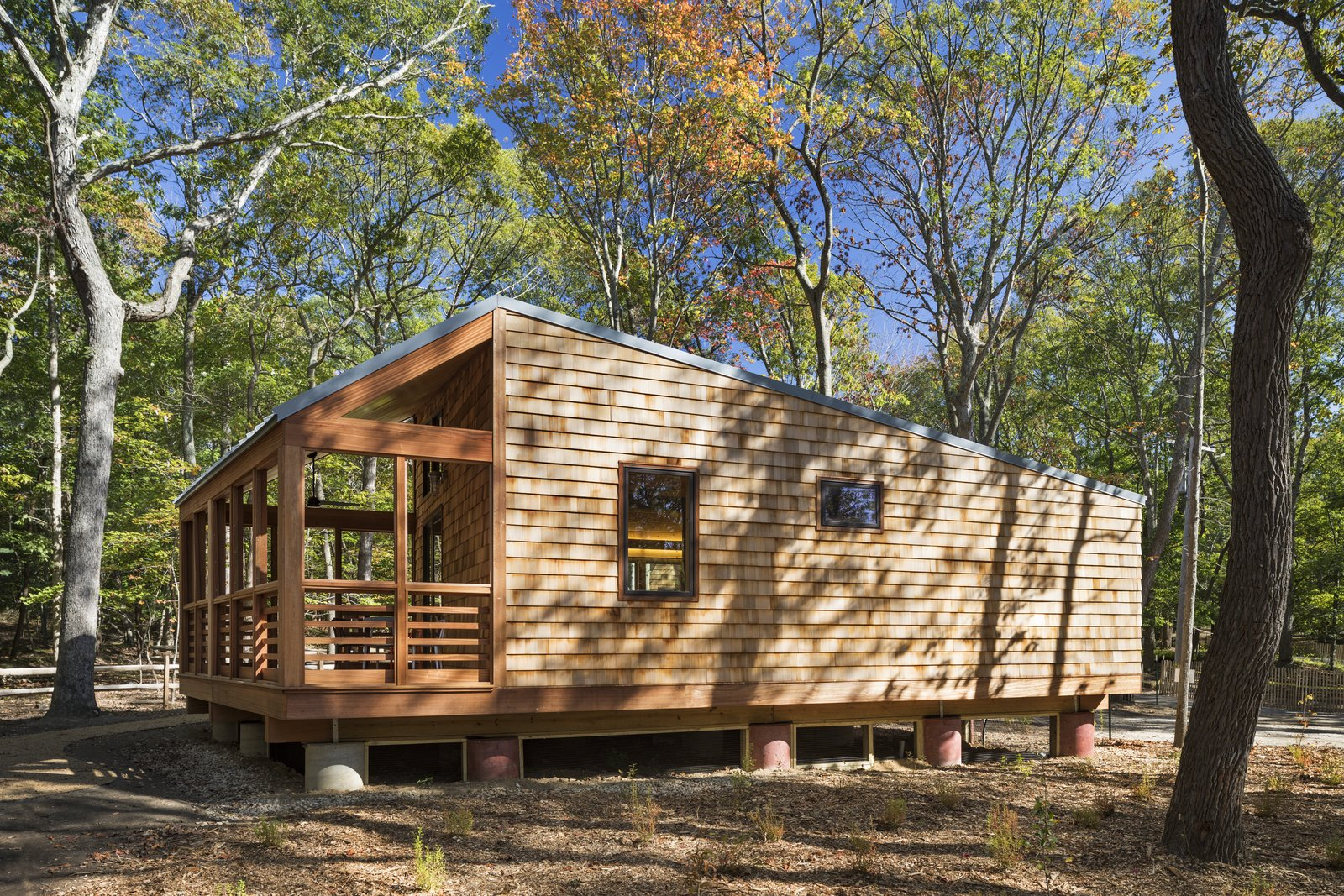 a long island campground gets a bunch of new modern cabins dwell