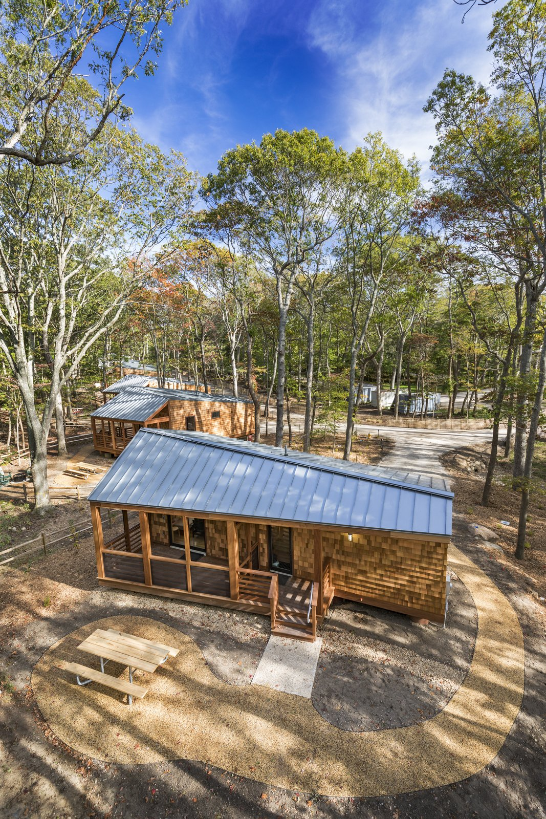 Charmant A Long Island Campground Gets A Bunch Of New Modern Cabins   Photo 1 Of 6
