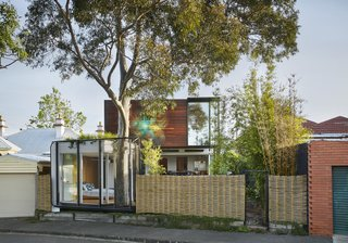 With the property bookended by two streets, the architects designed two front yards.