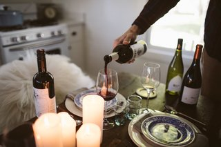 When entertaining with hygge in mind, incorporate beautiful serving ware, along with tasty food dishes and drinks.