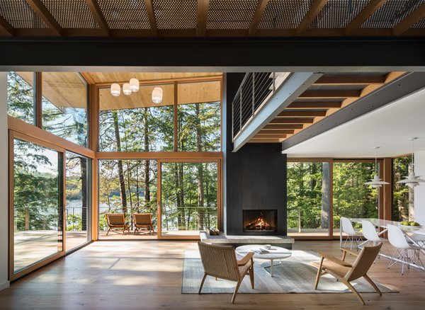 """To bring the client's idea of """"experiential delight"""" to life, the architects created different visual experiences as you move throughout the house. """"As you move through the house you feel different experiences,"""" says Murdough."""