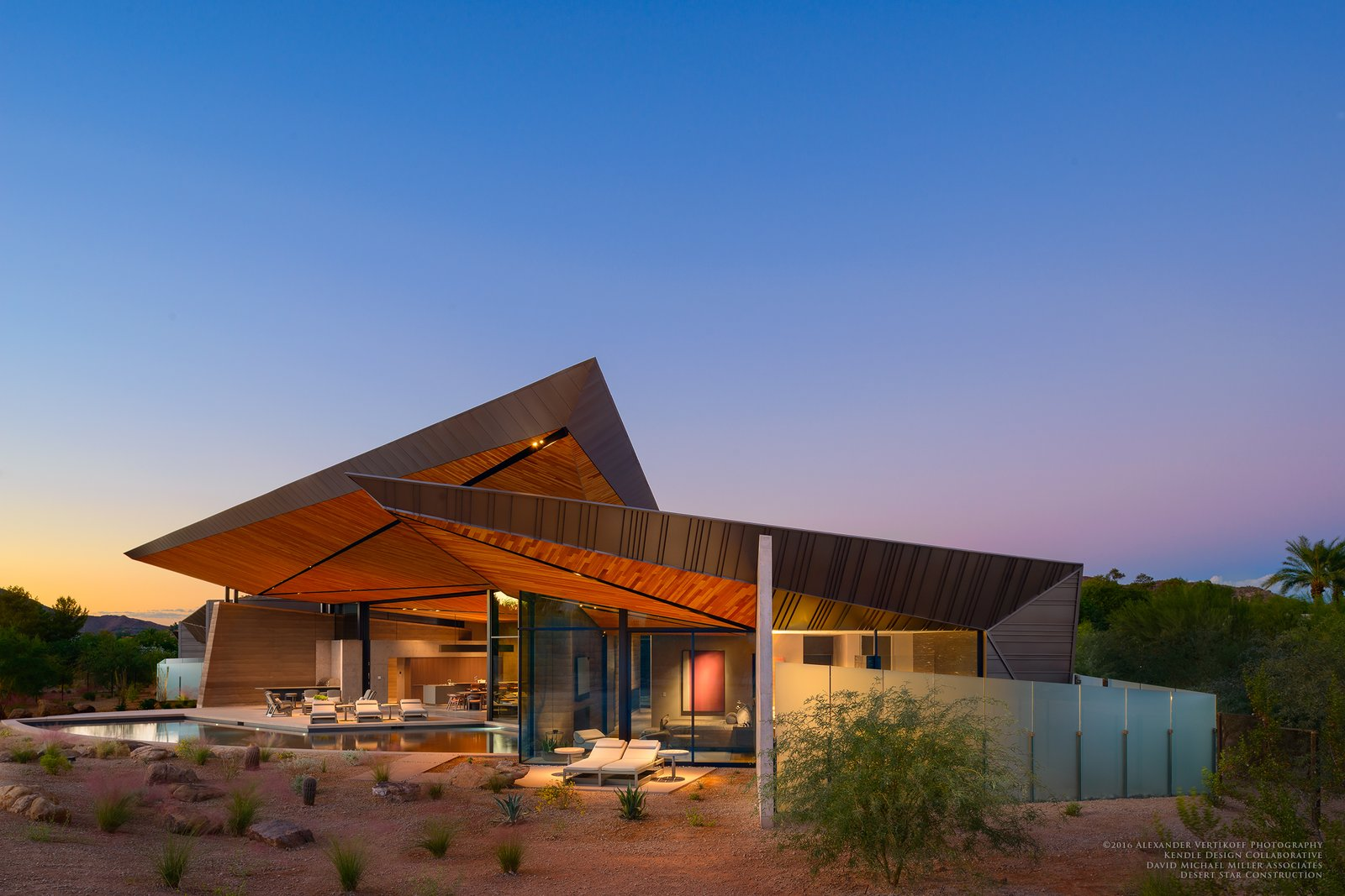 Exterior, House Building Type, Metal Siding Material, Metal Roof Material, Concrete Siding Material, and Wood Siding Material  Dancing Light by Brent Kendle / Kendle Design Collaborative