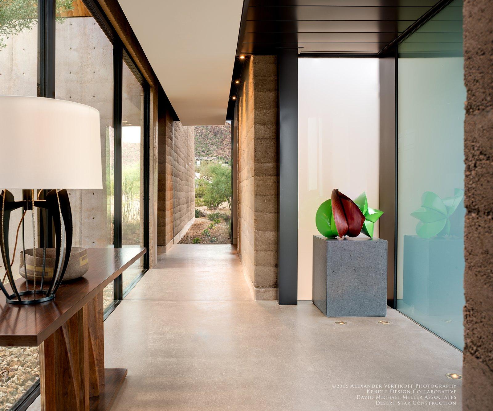 Hallway and Concrete Floor  Dancing Light by Brent Kendle / Kendle Design Collaborative