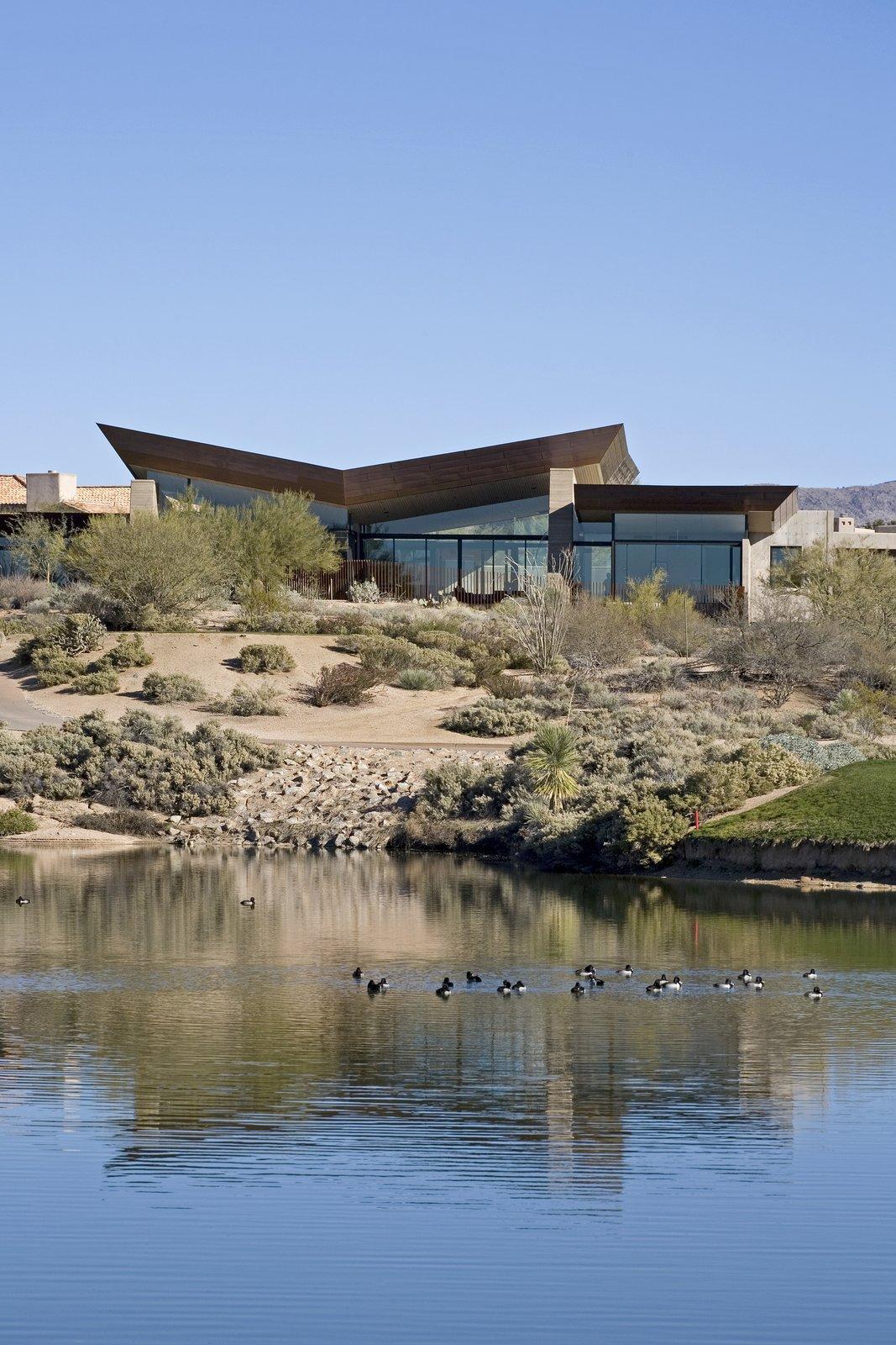 Exterior, House Building Type, Metal Roof Material, Concrete Siding Material, and Metal Siding Material  Desert Wing
