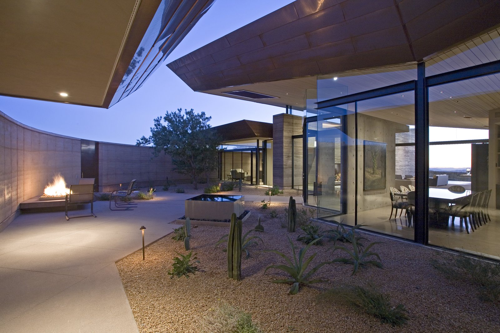 Outdoor, Trees, Front Yard, Shrubs, Walkways, Gardens, Small Pools, Tubs, Shower, Hardscapes, Infinity Pools, Tubs, Shower, Small Patio, Porch, Deck, and Concrete Patio, Porch, Deck  Desert Wing