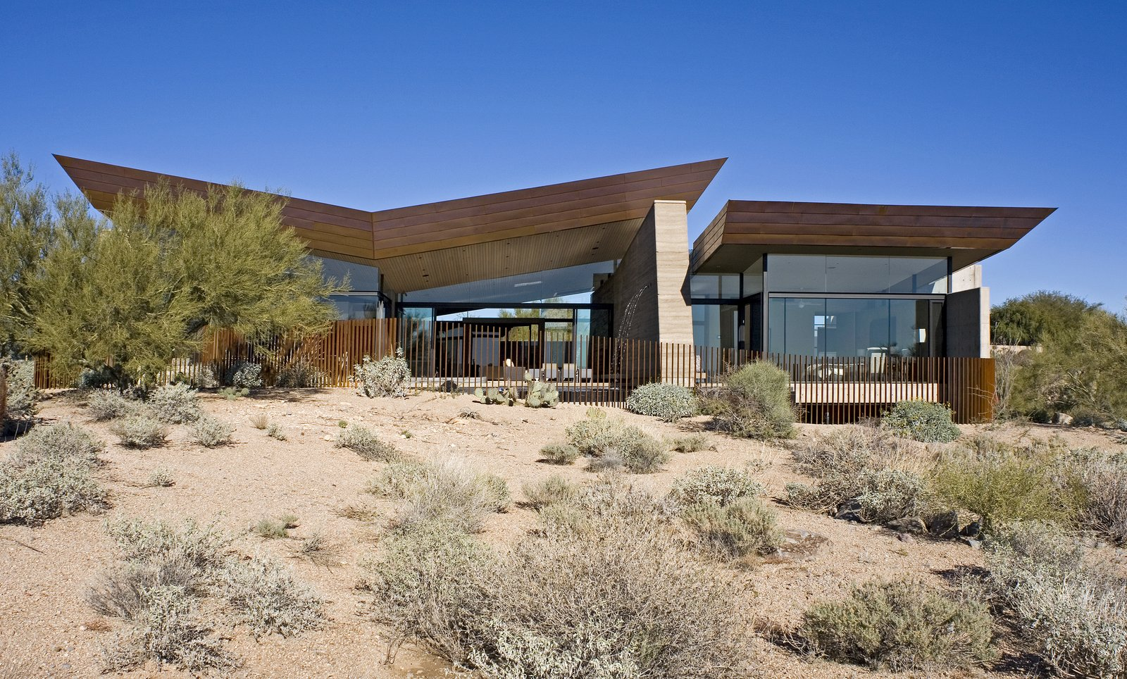 Exterior, Metal Roof Material, House Building Type, Metal Siding Material, and Concrete Siding Material  Desert Wing