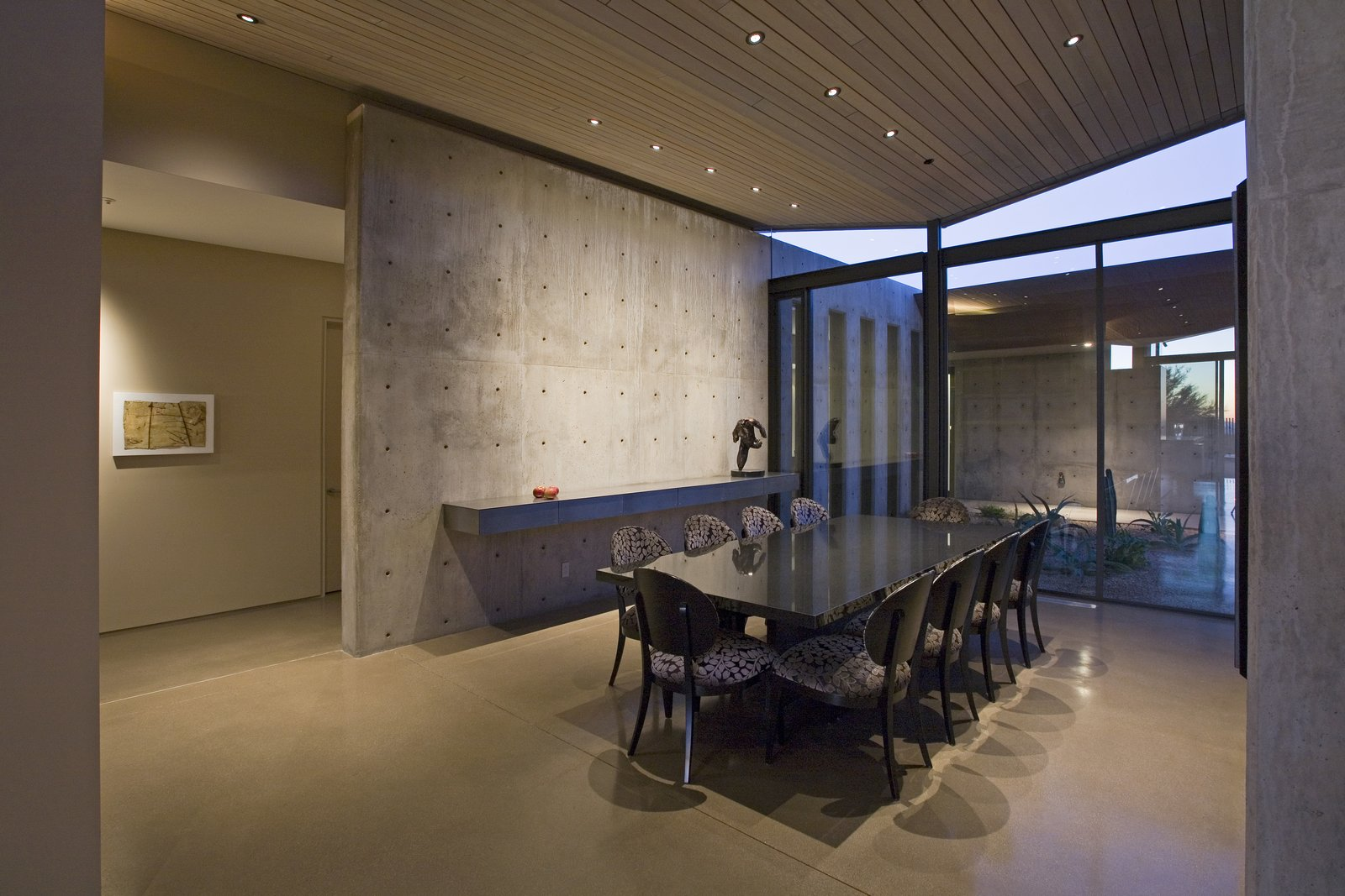 Dining Room, Chair, Table, Concrete Floor, Shelves, Recessed Lighting, and Storage  Best Photos from Desert Wing