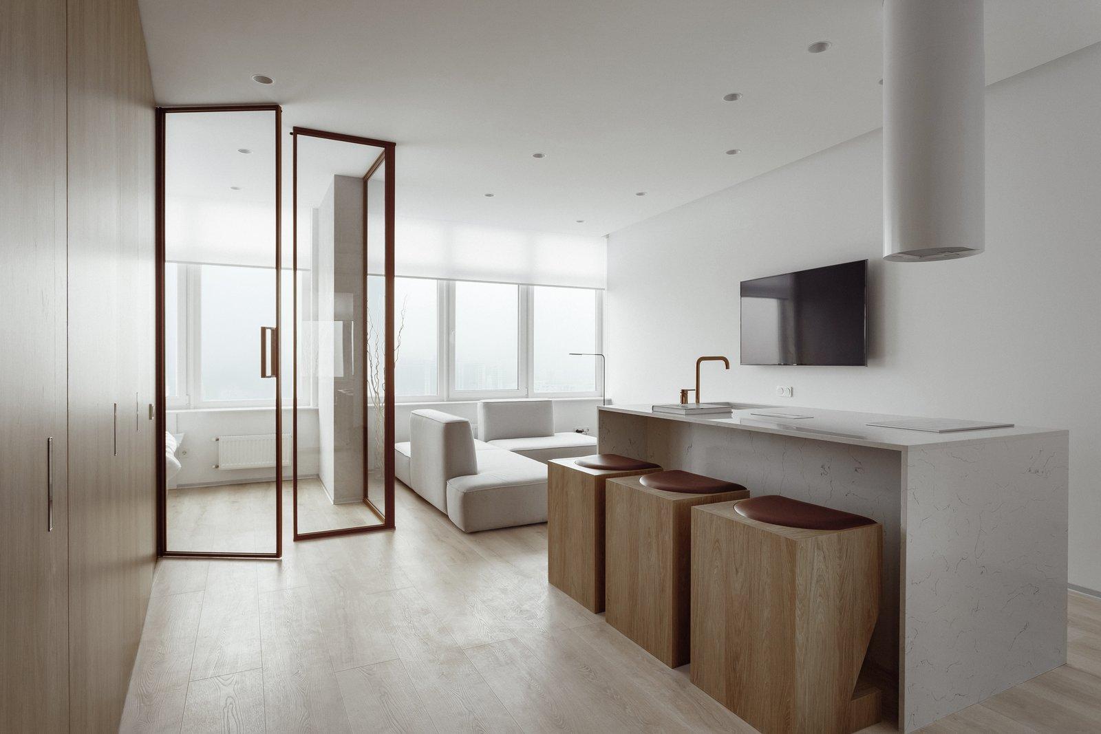 Living Room, Sofa, Ceiling Lighting, and Light Hardwood Floor  191 Apt.