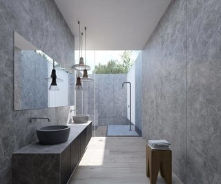 Bathroom in Ko House.