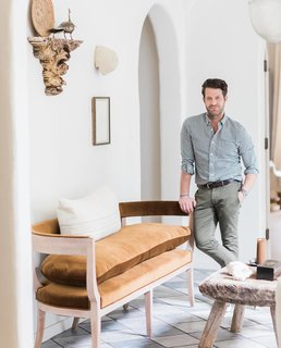 """Our meditation room at home…yep, we've totally given in to California,"" says Nate Berkus."