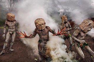 Mudmen in Papua, NewGuinea, 2017.
