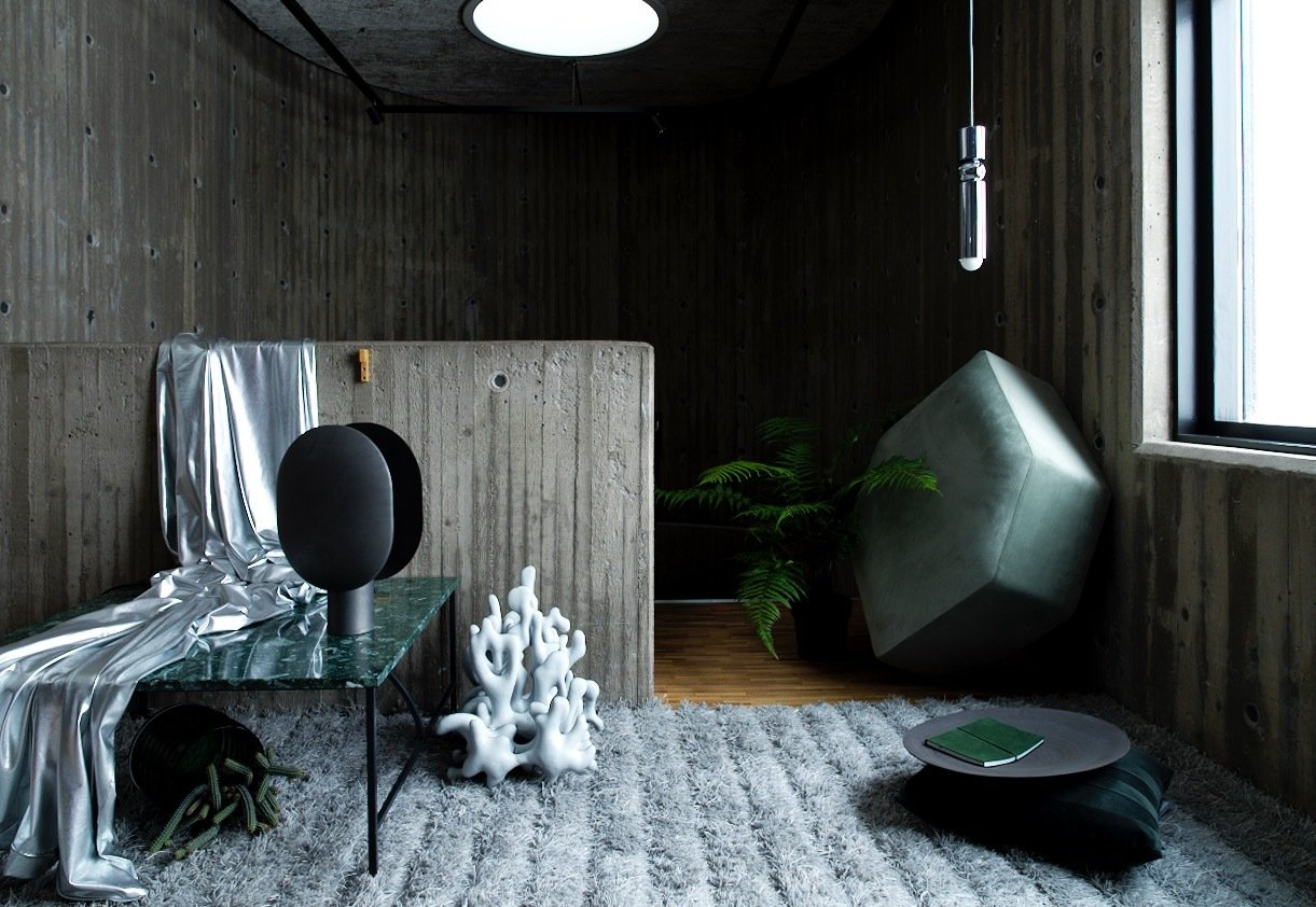 Living Room, Ceiling Lighting, Rug Floor, Medium Hardwood Floor, and Table  Photo 2 of 39 in 10 Incredible Interior Designers to Follow on Instagram Right Now
