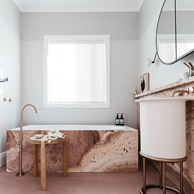 Bath, Pedestal, Drop In, and Alcove  Best Bath Drop In Alcove Photos from 10 Incredible Interior Designers to Follow on Instagram Right Now