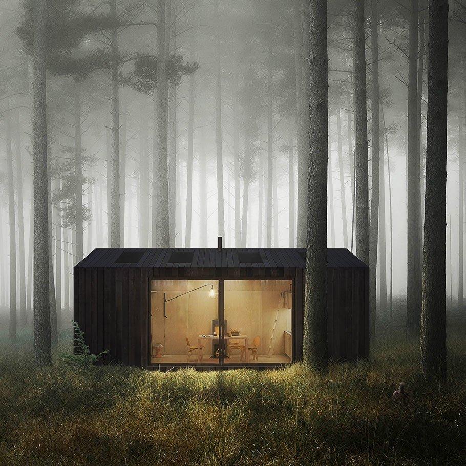 This Modern Matte Black Cabin Is a Dreamy Weekend Retreat