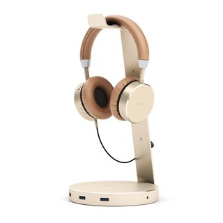 Satechi Aluminum Headphone Stand in Gold