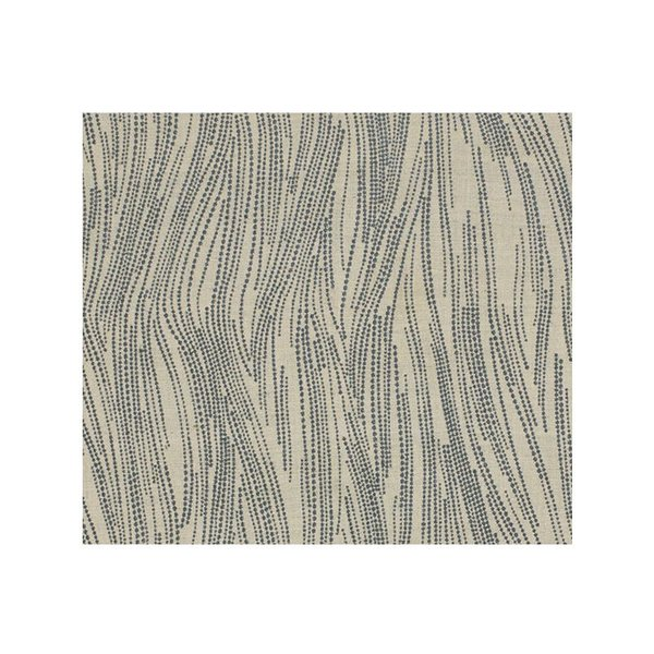 Lee Jofa Currents Silk Drapery in Slate/Oatmeal
