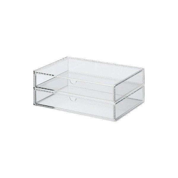 Muji Acrylic Case 2 Drawers - Large