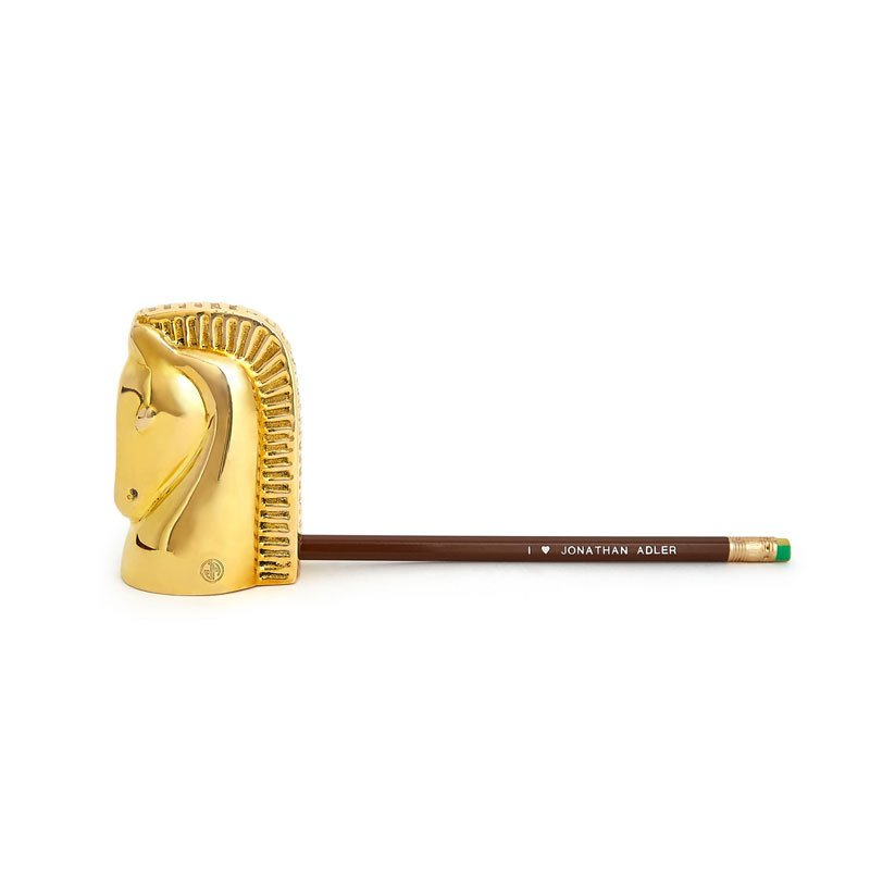 Jonathan Adler Brass Horse Pencil Sharpener