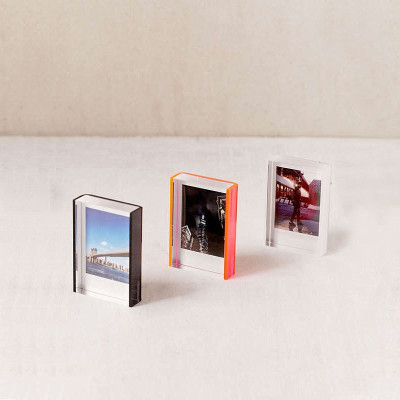 mini instax acrylic block frame by urban outfitters dwell. Black Bedroom Furniture Sets. Home Design Ideas