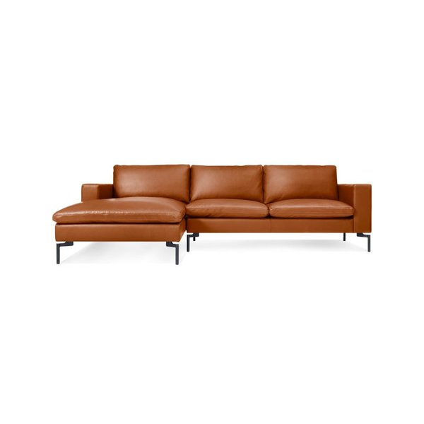 Blu Dot New Standard Leather Sofa with Chaise