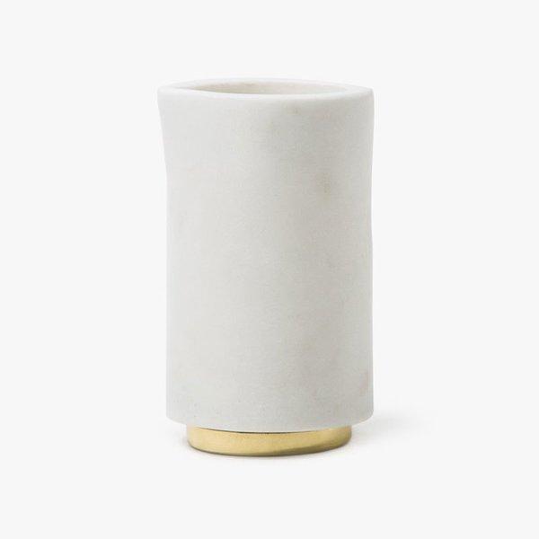Hawkins New York Mara Marble + Brass Creamer