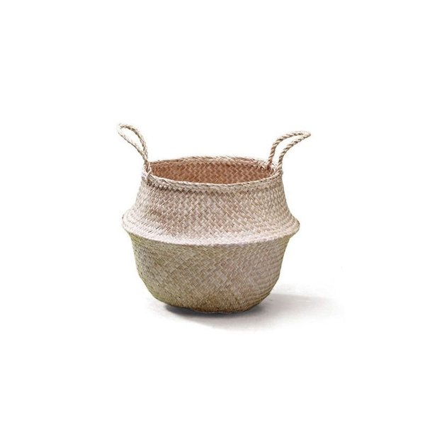 Large Natural Seagrass Belly Basket