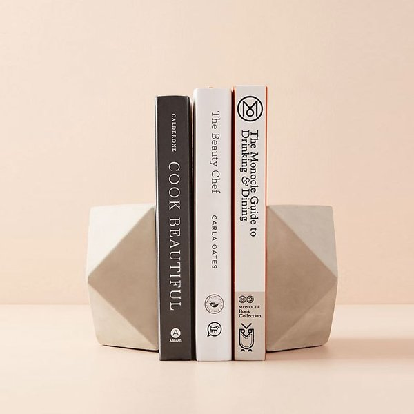 Anthropologie Cement Geo Bookends