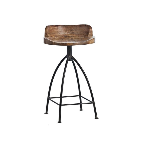 Arteriors Henson Wood and Iron Counter Stool