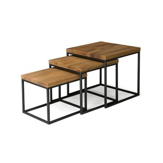 Article Taiga Oak Nesting Tables