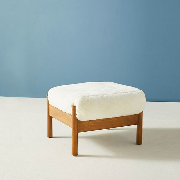 Anthropologie Wool Alvorada Ottoman