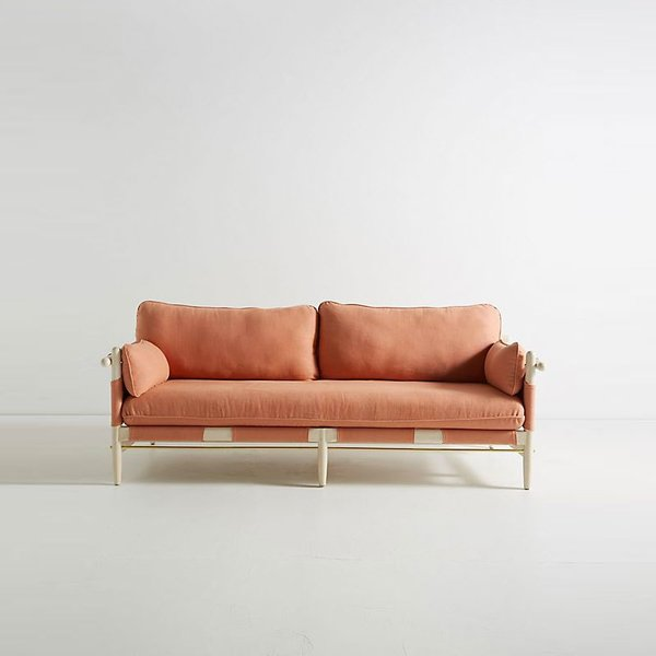 Anthropologie Belgian Linen Jamaica Sofa